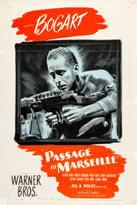 """Passage to Marseille (Warner Brothers, 1944). One Sheet (27"""" X 41"""")"""