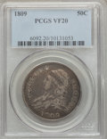 Bust Half Dollars, 1809 50C Normal Edge VF20 PCGS. PCGS Population (25/596). NGCCensus: (17/479). Mintage: 1,405,810. Numismedia Wsl. Price f...