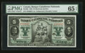 Canadian Currency: , Montreal, PQ- Banque Canadienne Nationale $5 Feb. 1, 1925 Ch. #85-10-02 . ...