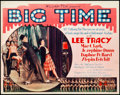 "Movie Posters:Drama, Big Time (Fox, 1929). Title Lobby Card (11"" X 14"").. ..."
