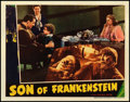 """Movie Posters:Horror, Son of Frankenstein (Universal, 1939). Lobby Card (11"""" X 14"""").. ..."""