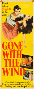 "Movie Posters:Academy Award Winners, Gone with the Wind (MGM, 1940). Insert (14"" X 36"").. ..."