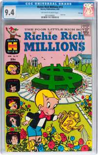 Richie Rich Millions #13 File Copy (Harvey, 1965) CGC NM 9.4 Off-white to white pages