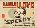 "Movie Posters:Comedy, Speedy (Paramount, 1928). Title Lobby Card (11"" X 14"").. ..."