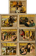 "Movie Posters:Western, The Code of the Wilderness (Vitagraph, 1924). Title Lobby Card and Lobby Cards (6) (11"" X 14"").. ... (Total: 7 Items)"