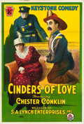 "Movie Posters:Comedy, Cinders of Love (Lynch, R-1920). One Sheet (27"" X 40"").. ..."