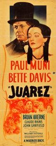 "Movie Posters:Drama, Juarez (Warner Brothers, 1939). Insert (14"" X 36"").. ..."