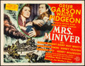 "Movie Posters:Drama, Mrs. Miniver (MGM, 1942). Title Lobby Card (11"" X 14"").. ..."