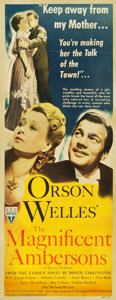 "Movie Posters:Drama, The Magnificent Ambersons (RKO, 1942). Insert (14"" X 36"").. ..."