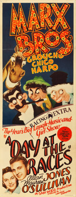 """A Day at the Races (MGM, 1937). Insert (14"""" X 36"""")"""