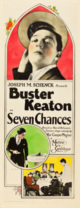 "Movie Posters:Comedy, Seven Chances (Metro Goldwyn, 1925). Insert (14"" X 36"").. ..."