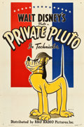 "Movie Posters, Private Pluto (RKO, 1943). One Sheet (27"" X 41"").. ..."