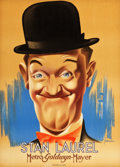 "Movie Posters:Comedy, Stan Laurel (MGM, 1938). French Affiche (23.5"" X 31.5"").. ..."