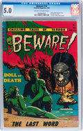 Golden Age (1938-1955):Horror, Beware #10 (Youthful Magazines, 1952) CGC VG/FN 5.0 Cream tooff-white pages....