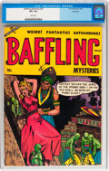 Golden Age (1938-1955):Horror, Baffling Mysteries #20 Northford pedigree (Ace, 1954) CGC VF+ 8.5White pages....