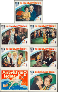 """Misbehaving Ladies (First National, 1931). Title Lobby Card and Lobby Cards (6) (11"""" X 14""""). ... (Total: 7 Ite..."""