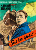 "Movie Posters:Academy Award Winners, On the Waterfront (Columbia, 1954). French Grande (46"" X 62.75"")Style A.. ..."