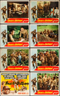 """Movie Posters:War, Back to Bataan (RKO, 1945). Lobby Card Set of 8 (11"""" X 14"""").. ...(Total: 8 Items)"""