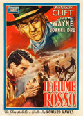 "Movie Posters:Western, Red River (Zeus Artists, 1948). Italian 2 - Foglio (39.25"" X 55"")....."