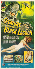 "Movie Posters:Horror, Creature from the Black Lagoon (Universal International, 1954).Three Sheet (41"" X 80.25"").. ..."