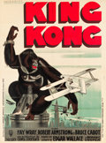 """Movie Posters:Horror, King Kong (RKO, 1933). French Grande (47"""" X 62.5"""") Style B Rene Peron Style.. ..."""
