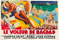 "Movie Posters:Fantasy, The Thief of Bagdad (Specima, 1946). North African First Post-WarRelease French Double Grande (62.5"" X 91.5"").. ..."