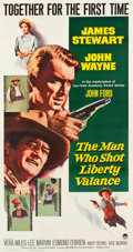 "Movie Posters:Western, The Man Who Shot Liberty Valance (Paramount, 1962). Three Sheet(41.5"" X 78"").. ..."