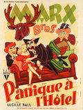"Movie Posters:Comedy, Room Service (RKO, 1938). French Grande (47"" X 62.75"").. ..."