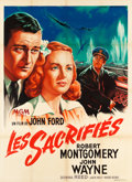 "Movie Posters:War, They Were Expendable (MGM, 1949). First Post War Release FrenchGrande (46.25"" X 63"").. ..."