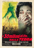 "Movie Posters:Science Fiction, 20 Million Miles to Earth (Columbia, 1960). Italian 2 - Foglio(39.5"" X 55.5"").. ..."