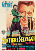 "Movie Posters:Western, The Searchers (Warner Brothers, 1956). Italian 2 - Foglio (39"" X 55"").. ..."