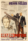 "Movie Posters:Drama, Citizen Kane (RKO, 1948). First Post -War Release Italian 4 -Foglio (54"" X 77.5"").. ..."