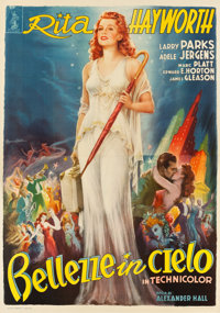 "Down to Earth (Columbia, 1952). Italian 4 - Foglio (55"" X 78"")"