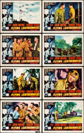 "Movie Posters:War, Flying Leathernecks (RKO, 1951). Lobby Card Set of 8 (11"" X 14"")..... (Total: 8 Items)"