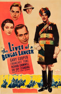 "Movie Posters:Adventure, The Lives of a Bengal Lancer (Paramount, 1935). Poster (40"" X 60"")Photo Gelatin.. ..."