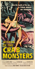 "Movie Posters:Science Fiction, Attack of the Crab Monsters (Allied Artists, 1957). Three Sheet(41"" X 80"").. ..."