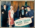 "Movie Posters:Crime, Seven Faces (Fox, 1929). Lobby Card (11"" X 14"").. ..."