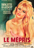"Movie Posters:Foreign, Le Mepris (Cocinor, 1963). French Grande (44.25"" X 62.25"").. ..."