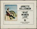 "Movie Posters:Comedy, What Women Love (First National, 1920). Title Lobby Card (11"" X14"").. ..."