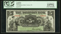 Canadian Currency: , Toronto, ON- The Dominion Bank $5 July 3, 1905 Ch. # 220-16-02SSpecimen. ...