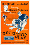 """Movie Posters:Sports, Football for the Fan (Educational, 1932). One Sheet (27"""" X 41"""") """"Deception Play."""". ..."""