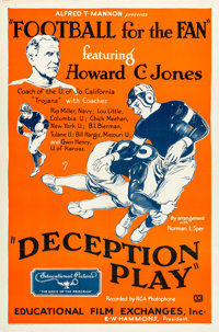 """Football for the Fan (Educational, 1932). One Sheet (27"""" X 41"""") """"Deception Play."""""""