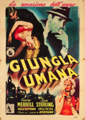 "Movie Posters:Crime, The Human Jungle (I.N.D.I.E.F., 1955). Italian 2 - Foglio (39"" X54.5"").. ..."