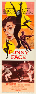 "Movie Posters:Romance, Funny Face (Paramount, 1957). Insert (14"" X 36"").. ..."