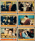 "Movie Posters:Crime, White Shoulders (RKO, 1931). Title Lobby Card & Lobby Cards (5)(11"" X 14""). Crime.. ... (Total: 6 Items)"