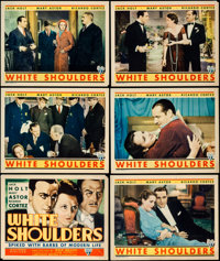 """White Shoulders (RKO, 1931). Title Lobby Card & Lobby Cards (5) (11"""" X 14""""). Crime. ... (Total: 6 Items)"""