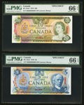 Canadian Currency: , $5 & $20 Specimen Note Pair. ... (Total: 2 notes)