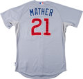 Baseball Collectibles:Uniforms, 2012 Joe Mather Game Worn Chicago Cubs Jersey With MLB Hologram....