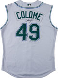 Baseball Collectibles:Uniforms, 2003-06 Alex Colome Game Worn Tampa Bay Devil Rays Jersey. ...