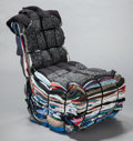 Furniture , TEJO REMY (Dutch, b. 1960). Rag chair, 1991, Droog. Rags, metal strips. 39-3/8 x 23-5/8 x 23-5/8 inches (100 x 60 x 60 c...